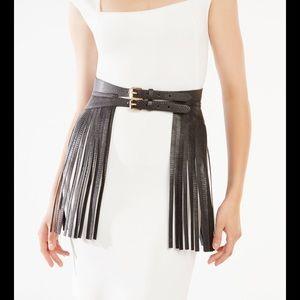 Bcbg fringe belt skirt